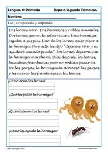 ejercicios lengua primero primaria 19
