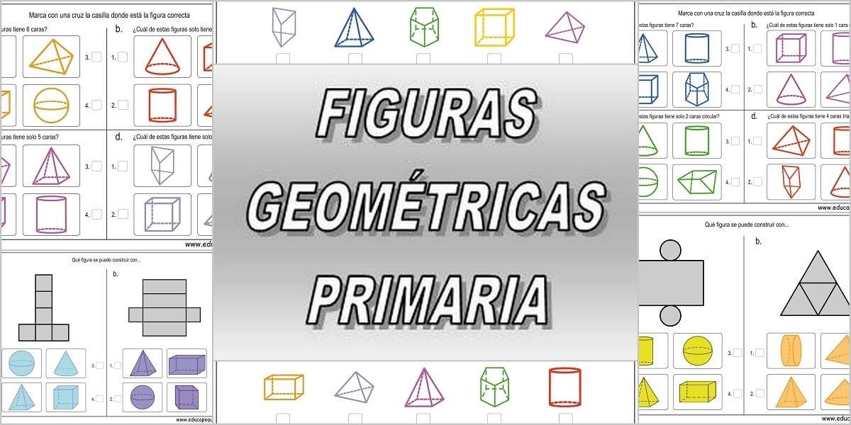 Fichas para trabajar las formas y figuras geométricas. Material para