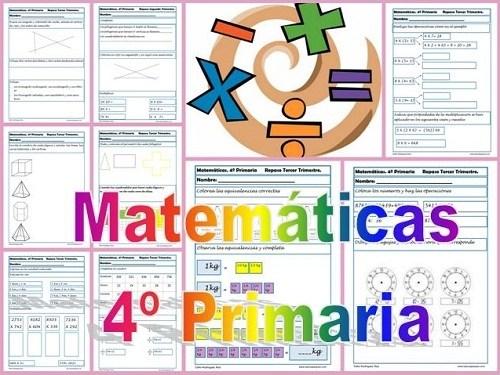 Fichas de matem ticas cuarto primaria for Cuarto primaria