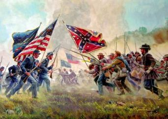 Painting of the Civil War