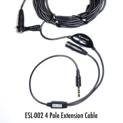 4 pole microphone extension cable for iPhone