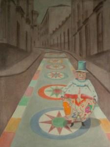 After the celebration 8, 2004 acrylic on canvas, 200x150 cm