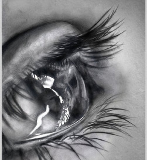 tears pencil drawing