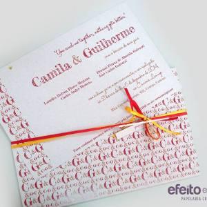 Convite Avenida Brasil | Camila & Guilherme
