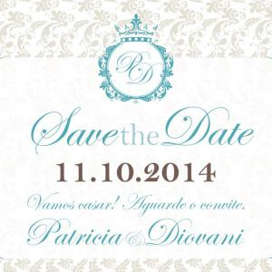 Save the Date Patricia & Diovani