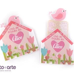 Convite casinha especial | Chá da Alice