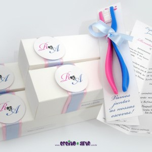 Convite Escovas de Dentes | Renata & Alexandre