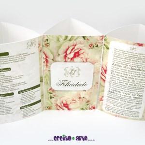 Tótens em papel metalizado 3 lados | Jéssica e João Paulo