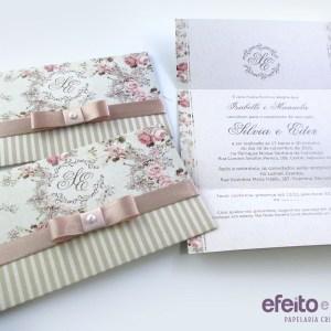 Convite Angra dos Reis em papel reciclado | Silvia & Eder