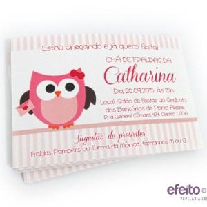 Convite 7x10cm | Chá de Fraldas da Catharina