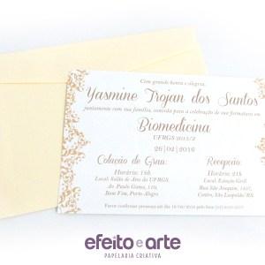 Convite Tradicional 10x15cm | Biomedicina