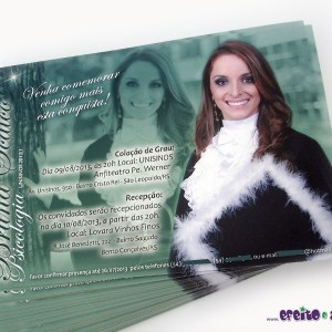 Convite 10x15cm em papel fotográfico | Psicologia