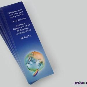 Marcadores de página 5x18cm | Análise de Sistemas