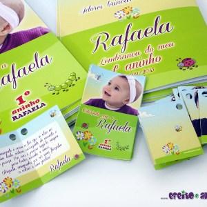 Tag de abrir com furo + rótulo adesivo para caixa de giz + Livrinhos de colorir 14x20cm | Jardim Encantado