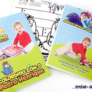 Livrinho de colorir 10x14cm | Galinha Pintadinha