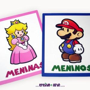 Cartazes para banheiro | Super Mario