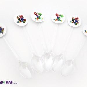Rótulo para colherzinha | Super Mario