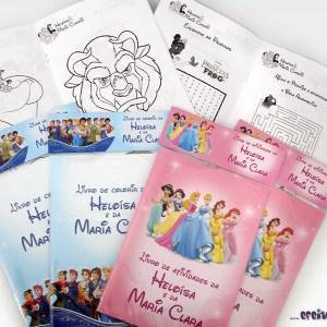 Livrinho de atividades 14x20cm | Princesas e Príncipes