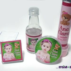 Rótulos para caixinha acrílico, garrafinha, latinha e tubetes | Ursinha