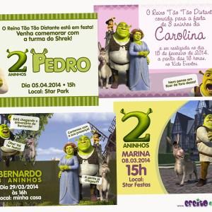 Convite 10x15cm | Shrek