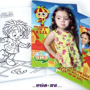 Livrinho de colorir 14x20cm | Emilia Sitio do Pica Pau Amarelo