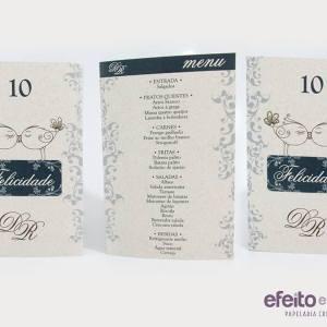 Tótens menu e número de mesa - versão Eco