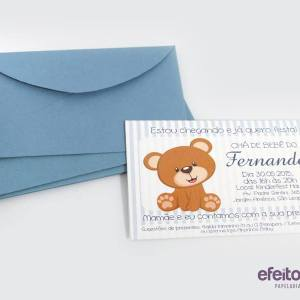 Convite 7x10cm | Chá de bebê do Fernando