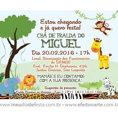 Convite Chá de Fralda do Miguel