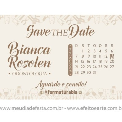Save the Date Bianca Rosolen - Formatura Odontologia