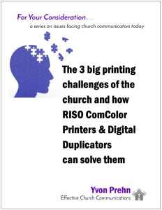 3 Big Print Problems in Church Communications