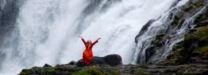 Dancer at Waterfall