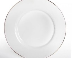 platinum silver rim rimmed edge charger plate service plate