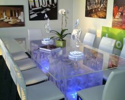 rent clear acrylic dining table for chicago chicagoland suburb events