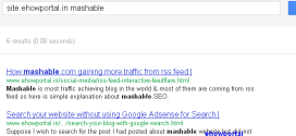 Search Your Blog's Specific Post With Google Search Query