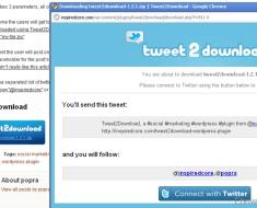 Setup Tweet to download system for WordPress blog