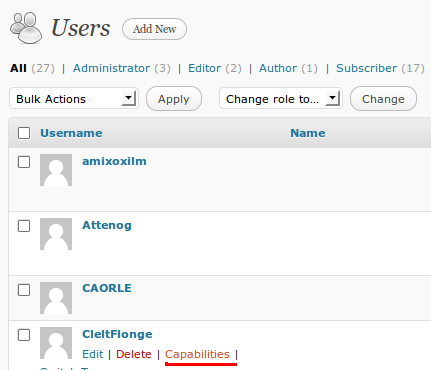 User Role Editor - Manage Multi Author WordPress Blog