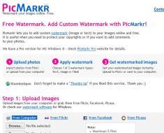 Free Watermark. Add Custom Watermark with PicMarkr!