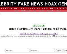 Timepass - Celebrity Fake News Prank Story Generator