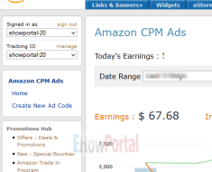 Amazon CPM Ads User Interface