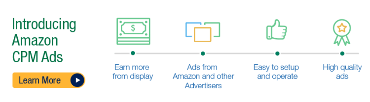 Amazon CPM Ads for publishers