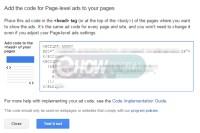 Adsense Page Level Ads code