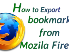 How To Export Firefox Bookmarks