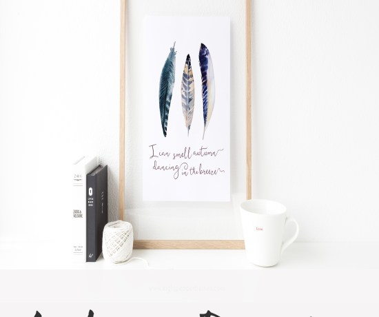 FREE FALL ART PRINT || I can smell autumn dancing on the breeze >> Eight Pepperberries