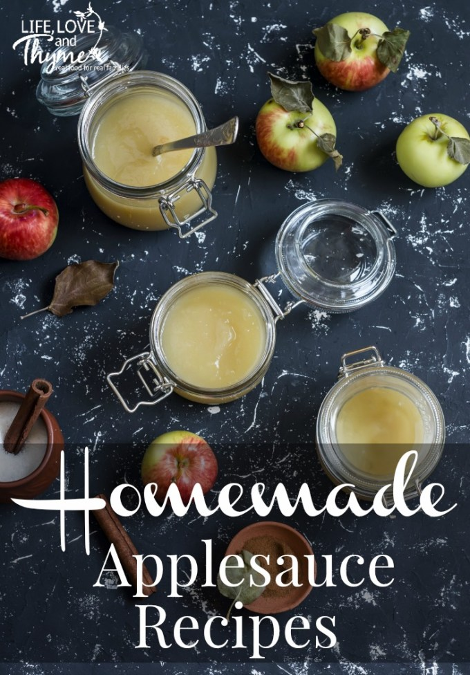Homemade Applesauce recipes by Life Love and Thyme >> featured on Totally Terrific Tuesday link party hosted by Eight Pepperberries.