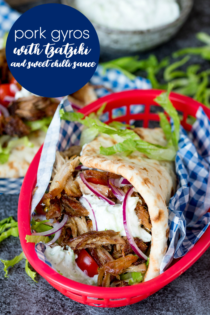 Pork Gyro Recipe by Simply Stacie >> featured on Totally Terrific Tuesday link party hosted by Eight Pepperberries.