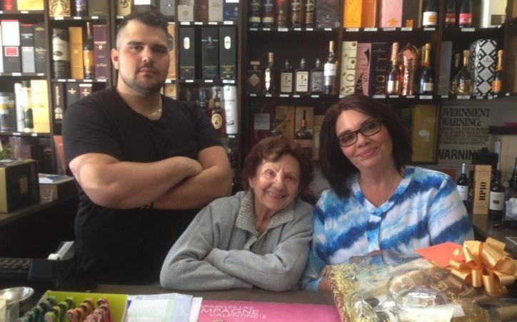 The Gounaris family: Alexandros, yiayia Calliope and Irini.