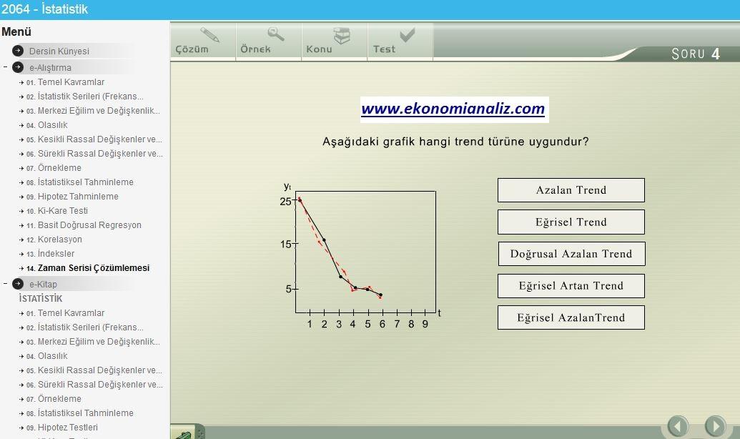 İstatistik uygulama soruları (e-sınav) ve ders notları
