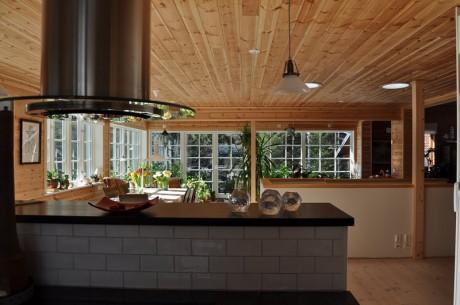 Orangeri utsikt från kök