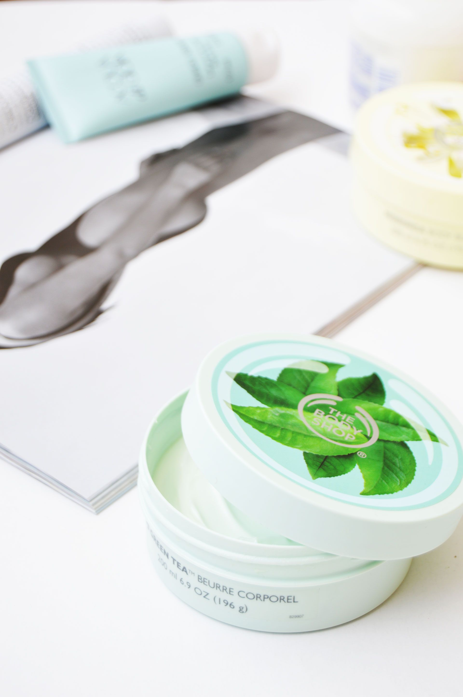 Hydrated skin with The Body Shop Fuji Green Tea Body Butter