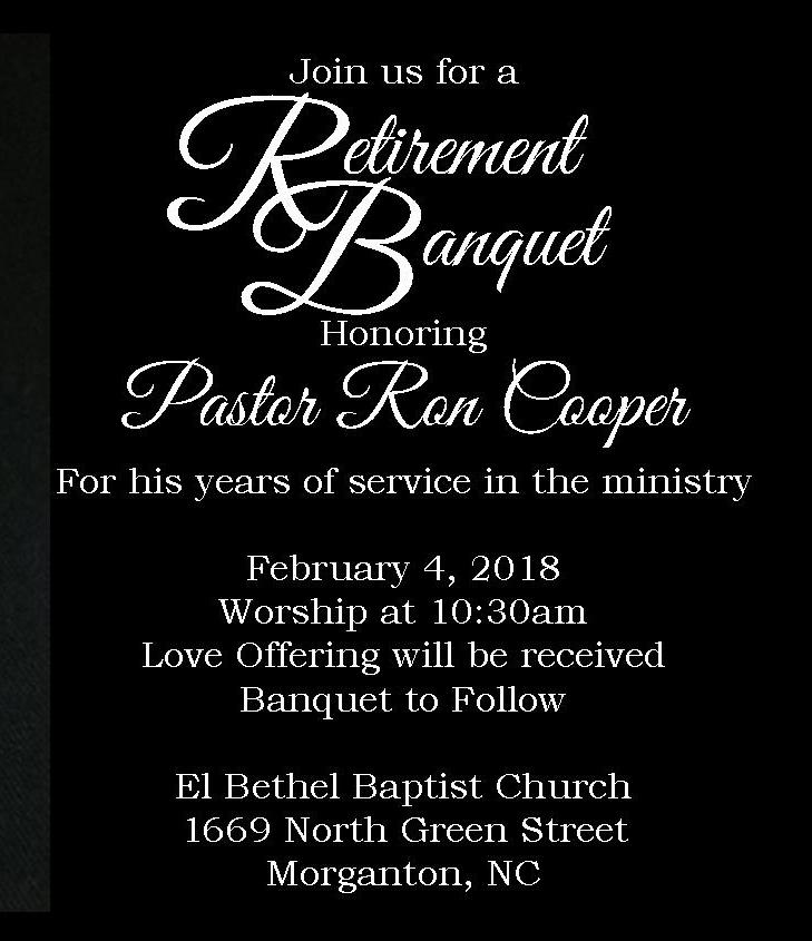 Pastor Ron's Retirement Banquet
